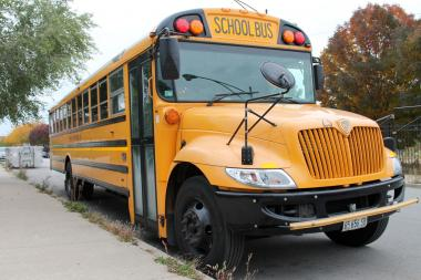 A Chicago Public Schools bus.