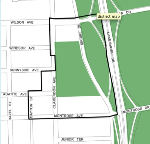 <p>The 31-acre Clarendon/Montrose TIF district is in Uptown.</p>
