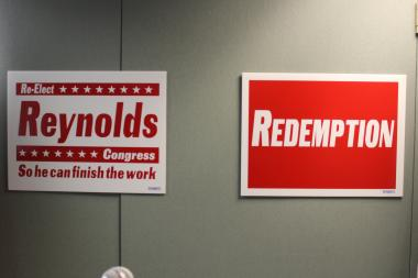 "Mel Reynolds is running behind the theme of ""redemption,"" he says, ""so he can finish the work."""