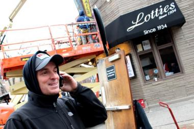 "Adam Boor, 34, lives in Bucktown and works as an assistant location manager for NBC's new drama ""Chicago Fire.""  On Tuesday he was preparing for a scene in Episode 14, which will involve a simulated emergency at the Bucktown pub Lottie's, 1925 W. Cortland."