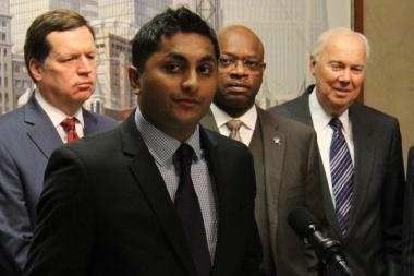Ald. Ameya Pawar has proposed an independent budget agency to aid the City Council, but it's in the hands of Ald. Richard Mell (right), chairman of the rules committee.