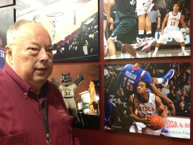 Photographer Bud Bertog is in his 60th year of shooting Loyola University men's basketball.