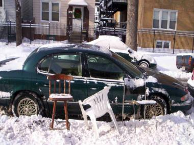 "Ald. Rey Colon (35th) recently weighed in on ""Dibs,"" the act of ""reserving"" a dug-out parking space with random objects."