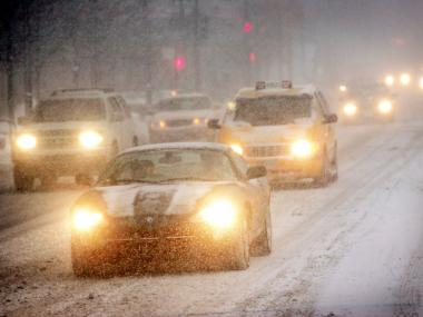 Driving conditions may be hazardous Saturday night into Sunday morning as a mixture of rain, sleet and snow hits Chicago.