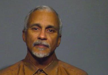State Sen. Donne Trotter's booking photo after he was arrested for allegedly trying to bring a handgun onto a plane.
