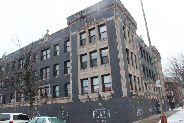 <p>The FLATS Chicago building at 4875 N. Magnolia Ave. in Uptown is under renovation.</p>