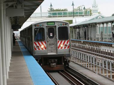 The CTA briefly rerouted trains on the Pink and Purple lines after a sick passenger had to be taken to a hospital from the Green Line.
