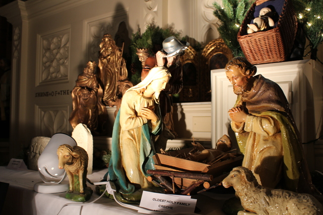 <p>This nativity, currently on display through the Christmas season at Holy Family church, is the church&#39;s oldest nativity set, estimated to be more than 100 years old.</p>