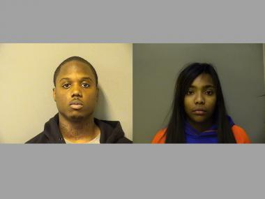 Jamael Harris, 20, and his girlfriend Breeana Kelly, 19, are charged with armed robbery.