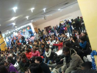 Hundreds of students at King College Prep, 4445 S. Drexel Blvd., staged a sit-in Thursday, Dec. 13, 2012.