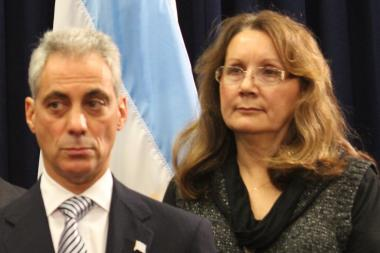 Downstate Diamond Mayor Teresa Kernc (right) joined Mayor Rahm Emanuel in saying the needs of hunters can be reconciled with the safety of children.