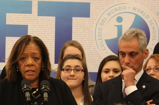 Mayor Rahm Emanuel, CPS CEO Barbara Byrd-Bennett