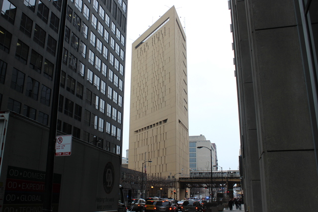 <p>The Metropolitan Correctional Center, a federal jail at 71 W. Van Buren St.</p>