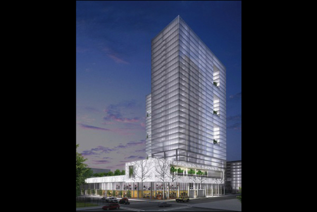 <p>Some neighbors want more affordable housing in a proposed mixed-use development, shown in this rendering, at North Clarendon and West Montrose avenues in the Clarendon/Montrose TIF district.</p>