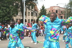 <p>The South Shore Drill Team performs at the 2012 Bud Billiken Parade in Bronzeville.</p>