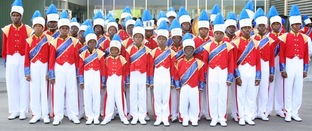 <p>Each year new cadets, such as this group, join the South Shore Drill Team, which consists of 300 youth from the inner city.</p>