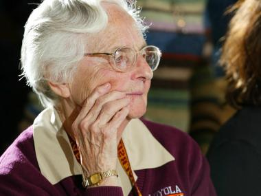Sister Jean Dolores Schmidt, 93, has been part of the Loyola University community for 51 years, and she recently celebrated her 75th anniversity as a nun.