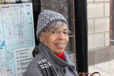 Jackie Buckley, 73, was happy to see the CTA's No. 4 Cottage Grove bus arrive sooner to her stop at 79th Street and Cottage Grove Avenue.