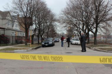 A man was shot by a police officer Monday in the 1500 block of East 77th Street Monday, police said.
