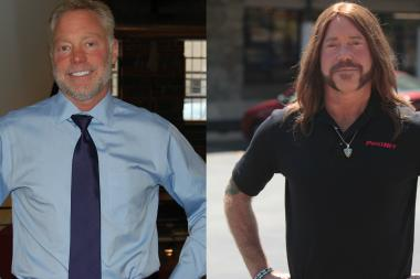 "Steve Greenbaum, CEO of a shipping company and former Rogers Park resident, dressed as long-haired motorcycle dude for CBS's ""Undercover Boss."""