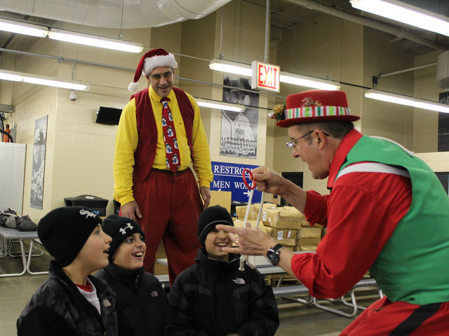 <p>Jokes and magic tricks thrilled the pint-sized guests at the annual White Sox holiday party, held at U.S. Cellular Field on Dec. 13.</p>