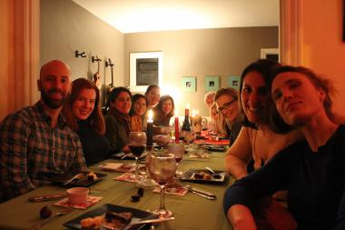 Musician and chef Emily Hurd hosts a monthly supper club at her one bedroom apartment in Edgewater.