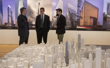 The Univeristy of Chicago launched a new research center to study cities using computational models. The Urban Center for Computation and Data is led by Charlie Catlett (left). Brett Goldstein, (center) the city's chief information officer and Douglas Pancoast, an associate professor of architecture at the School of the Art Institute of Chicago, are helping the center get on its feet.