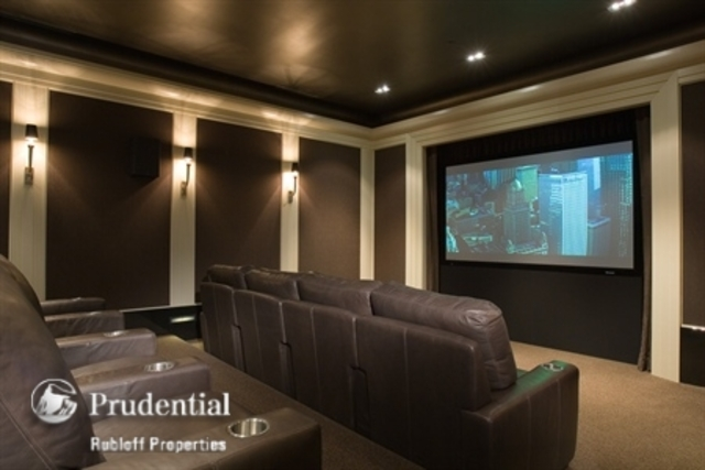 <p>The home theater in the home at 1866 N. Howe St.</p>