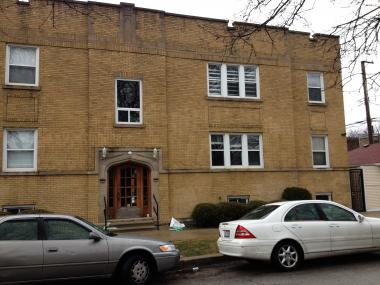 The five-unit apartment complex in the 2500 block of West North Shore Avenue in West Rogers Park.