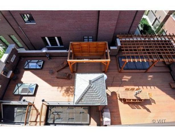 <p>The rooftop deck is one of two places for residents to get some sun.</p>