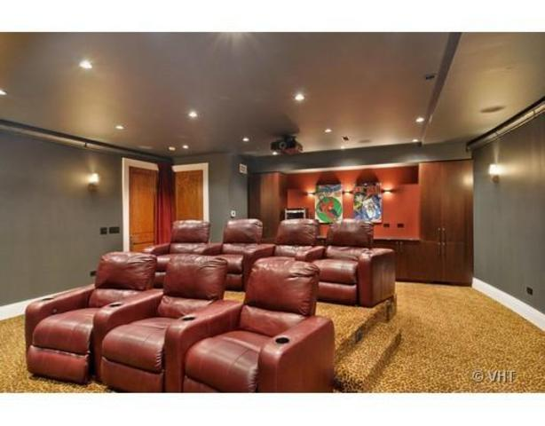 <p>If a movie runs too long at one of the house&#39;s entertainment hubs, you can relocate to the seven-seat theater downstairs.</p>