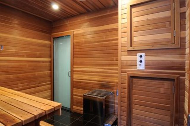 <p>A sauna, workout room and two resistance pools ensure you can keep your body as well-maintained as this home.</p>