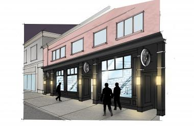 Renderings of the renovated interior of a new Edgewater bar, 63.