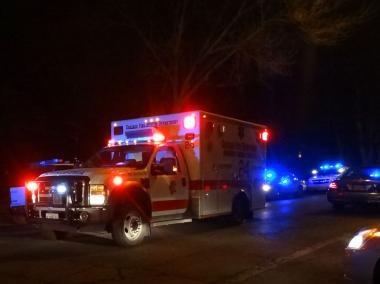 Three people were in serious condition following a four-car wreck late Friday on Lake Shore Drive.