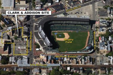 The Addison Park on Clark development stalled because of failed financing but is now revamping to offer an apartment and retail complex, deveopers told local business leaders and community representatives.