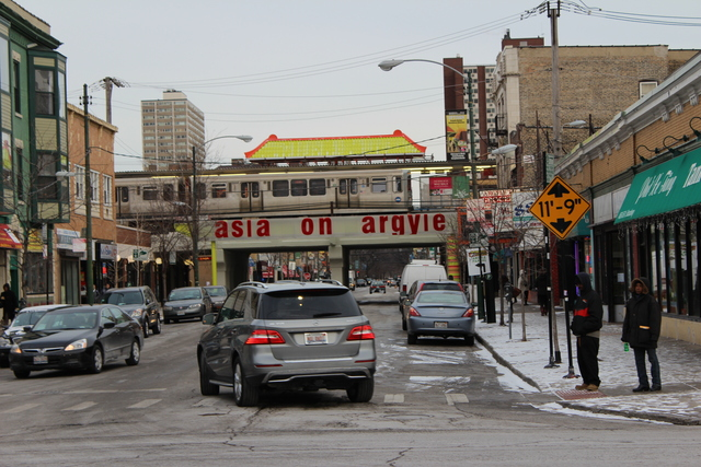 <p>Ald. Harry Osterman (48th) said the Asia on Argyle sign is one of the first steps toward an Argyle Streetscape.</p>