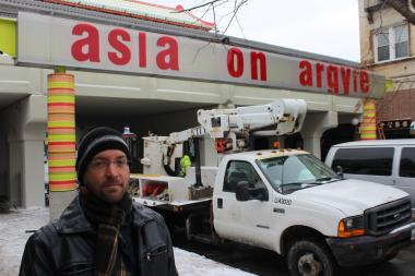 "Reviews are mixed when it comes to the ""Asia on Argyle"" sign that was installed outside the Argyle Red Line station last week."