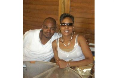 Bert Lindsey and his wife Lakisha Lindsey on their honeymoon.