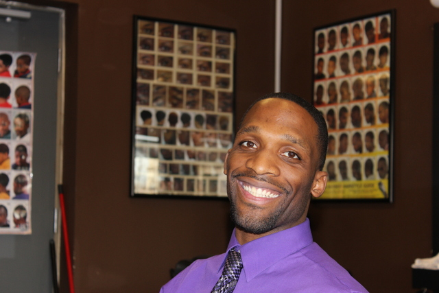 Julius McKinney, founder of Full Time Logistics LLC, co-sponsored a career expo Monday, Jan. 28, 2013 at a South Side barbershop.