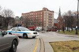 <p>NBC show &quot;Chicago Fire&quot; returned to Logan Square to shoot a bomb threat scene near the square, Jan. 30, 2013.</p>