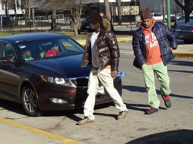 <p>Chief Keef (l.) heads to court Tuesday.</p>