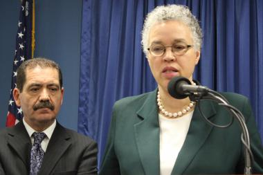 "Cook County Board President Toni Preckwinkle and Commissioner Jesus ""Chuy"" Garcia backed stronger gun laws, but also proposed gun control of their own Wednesday."