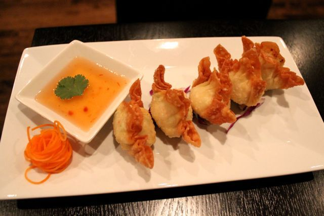 <p>The crab rangoon appetizer at O&#39;Cha Thai is comprised of crab meat, cream cheese and celery wrapped in a wonton pastry and served with sweet and sour sauce. It&#39;s $5.&nbsp; O&#39;Cha Thai will celebrate its soft opening Jan. 20 and Grand Opening Jan. 26.</p>