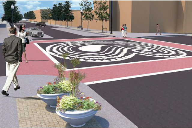 <p>The Devon Avenue streetscape project will include designs within major intersections, as well as more noticeable crosswalk markings.</p>
