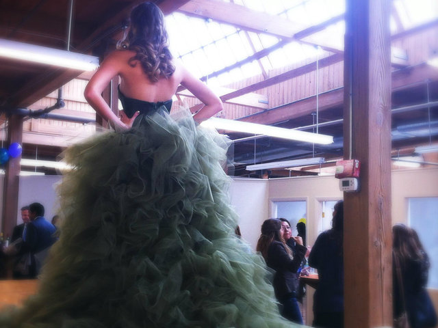 <p>A snapshot from the kickoff event at the Fashion Design Center, a Bridgeport studio space offering affordable rates for aspiring fashion designers.</p>