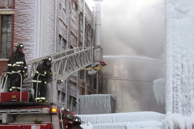 Fire in vacant Bridgeport warehouse.