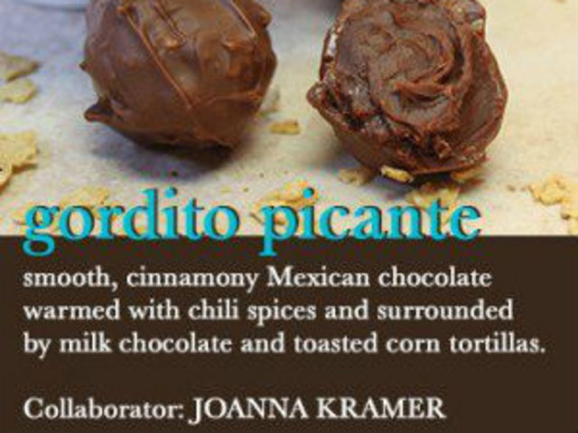 <p>Toasted corn tortillas and spicy Mexican chocolate are part of the Gordito Picante, which Cake owner Mary Winslow said &quot;starts out as smooth flavorful bite and finish with with a surprising yet pleasing heat.&quot;</p>