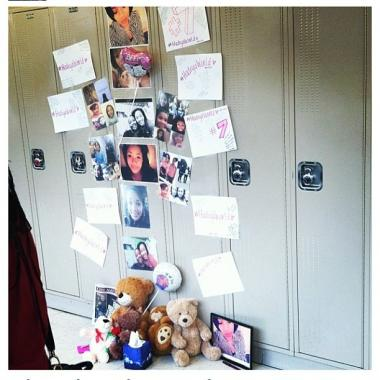 Students at King College Prep decorated Hadiya Pendleton's locker Wednesday to honor the slain 15-year-old.