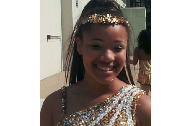 <p>Hadiya Pendleton, 15, in her dance troupe uniform. She performed at President Obama&#39;s inauguration on Jan. 21.</p>