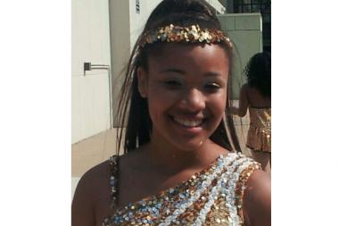 Hadiya Pendleton, 15, in her dance troupe uniform. Hadiya performed at President Obama's inauguration.